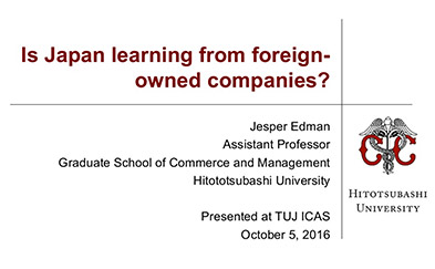 Is Japan Learning From Foreign-owned companies (gaishikei)? Presentation Slide