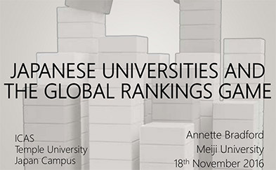 Japanese Universities and the Global Rankings Game Presentation Slide