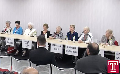 Image of family members of former US prisoners of War in Japan