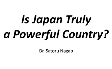 Powerful or powerless Japan - Dr. Satoru Presentation