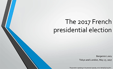 Cover photo for Benjamin Lasry Slides - Analysis of the French Elections Presentation