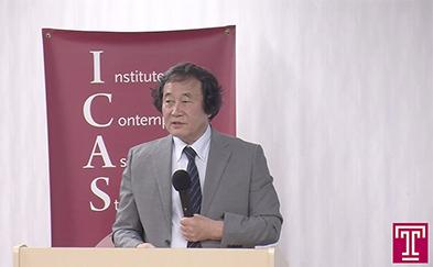 Photograph of Yoshihiro Takishita lecturing
