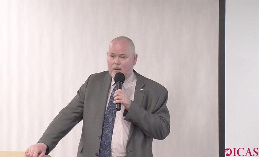 Photo: Paul Midford speaking